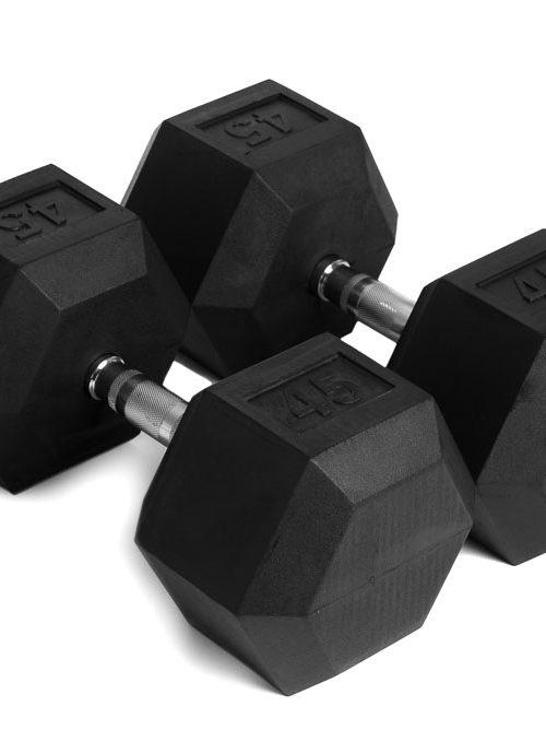 Hantlar HexDumbells 2 x 45 kg