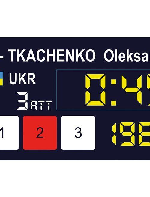 Eleiko Easy Weightlifting International Scoreboard System
